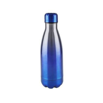 Picture of Stainless Steel Vacuum Bottle, Blue/Silver, 500ml