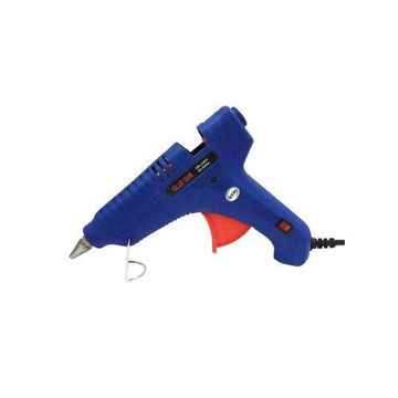 Picture of Super Pdr Hot Melt Glue Gun, Blue/Red