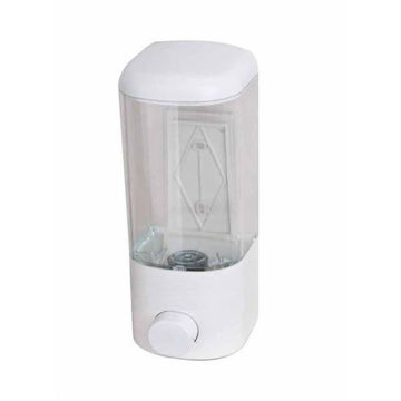 Picture of Wall Mounted Soap Dispenser, White/Clear, 500ml
