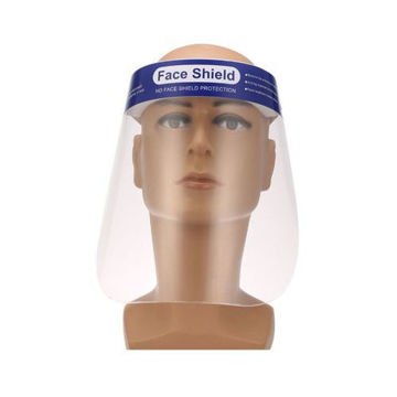 Picture of Dust Proof Protective Welding Safety Face Shield, Blue - Set of 2