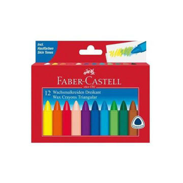 Picture of Triangular Grip Wax Crayon Set, Multicolour - Set of 12