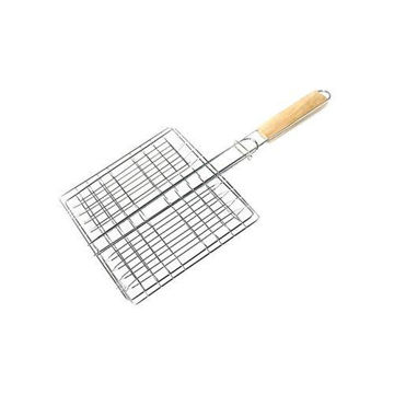Picture of Barbecue Clips Net Grill Tong - Silver & Beige