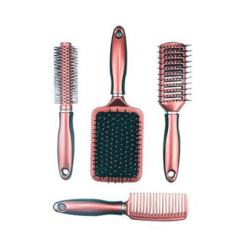Picture of Paddle Hair Brush Set, Brown & Black - Set of 4
