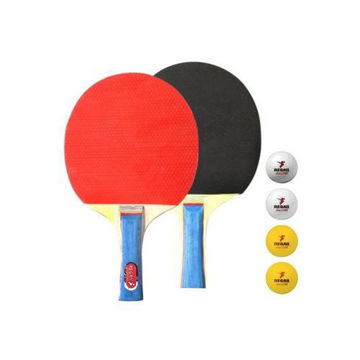 Picture of Table Tennis Racket & Balls - Set of 6