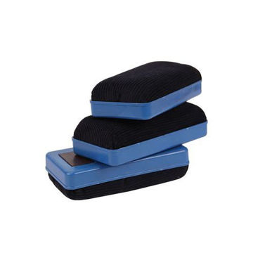 Picture of Magnetic Whiteboard Eraser, Blue & Black - Set of 3