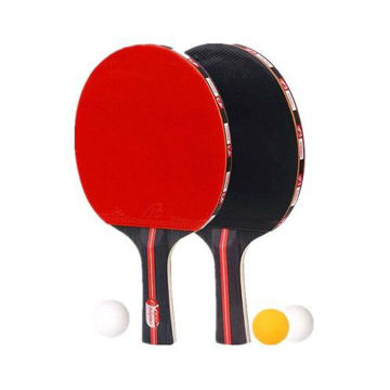 Picture of Table Tennis Rackets with 3 Balls - Set of 2