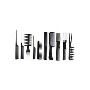 Picture of Professional Salon Hair Comb Set, Black - Set Of 10