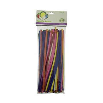 Picture of Long 260 Q Latex Balloon, Multicolour, 12 inch, Set of 100