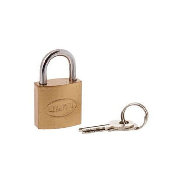 Picture of Brass 25mm Pad Lock - Gold & Silver