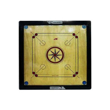 Picture of Wooden Carrom Board Game, Beige and Black