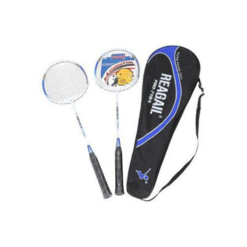 Picture of Single Badminton Racket with Carry Bag, Multi Colour