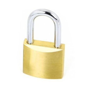 Picture of Brass Pad Lock 70mm with Key Set - Silver & Gold