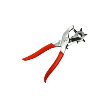 Picture of Punch Plier for Leather & Plastic - Red & Silver