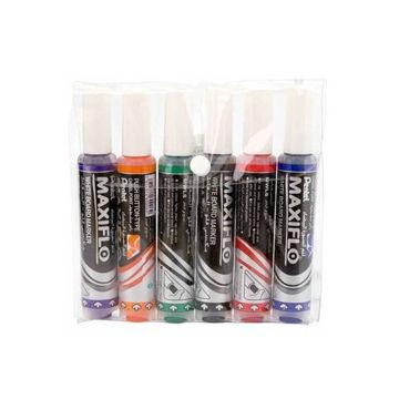 Picture of Maxiflo Whiteboard Marker Set, Multicolour - Set of 6