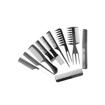 Picture of Professional Salon Hair Comb, Black  - Set of 10