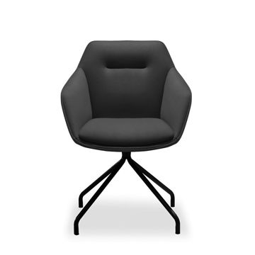 Picture of Neo Front Leather Executive Meeting Chair, Black