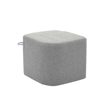 Picture of Neo Front Leaf Shaped Fabric Sofa Stool, Grey, 43cm