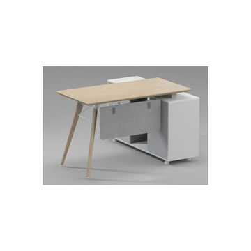 Picture of Neo Front Computer Desk, Grey