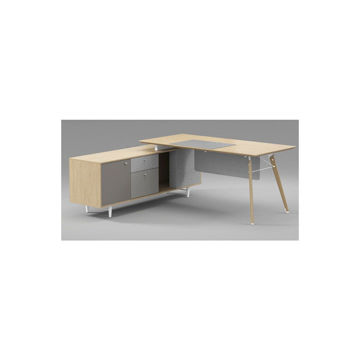 Picture of Neo Front Office Table Desk, 190 cm, Beige & Grey