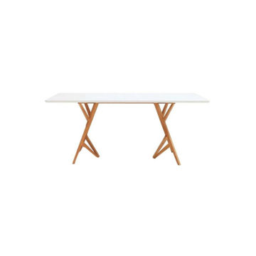 Picture of Neo Front Rectangular Dining Table, White