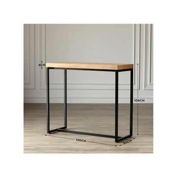 Picture of Neo Front Wooden Oak Bar Table, Brown