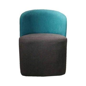 Picture of Neo Front Fabric Sofa Chair, Teal & Grey