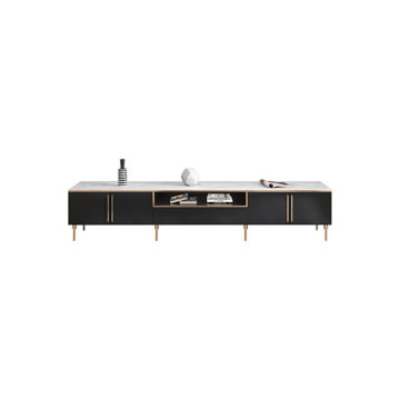 Picture of Neo Front TV Stand with Storage Cabinet, Black & White
