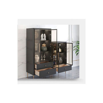 Picture of Neo Front Cabinet with One Drawer, Black, Small
