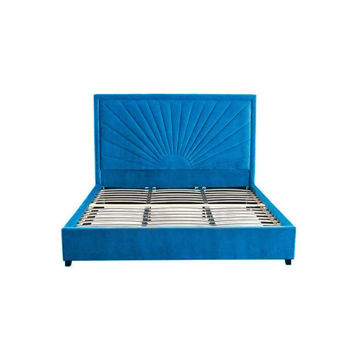 Picture of Neo Front Solid Wooden Bed Frame, 180 cm, Blue