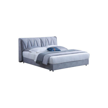 Picture of Neo Front Solid Wooden Frame King Size Bed, 1.5 m, Blue