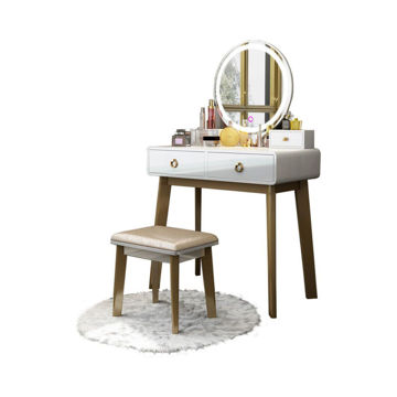Picture of Neo Front Glossy Dressing Table Set, Beige