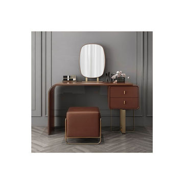 Picture of Neo Front Japanese Leather Dressing Stool, Brown