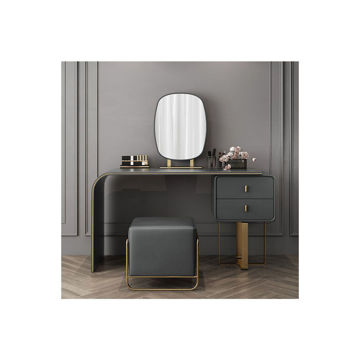Picture of Neo Front Japanese Leather Dressing Stool, Grey