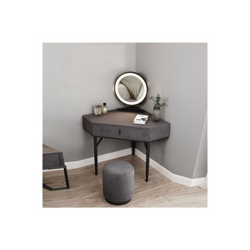 Picture of Neo Front Japanese Leather Dressing Table, Grey