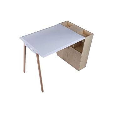 Picture of Neo Front Wooden Bar Table with Cabinet Storage, White