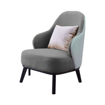 Picture of Neo Front Single Seater Sofa Chair with Pillow, Grey