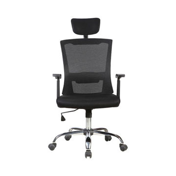 Picture of Neo Front Mesh Trolley Chair with Headrest, Black