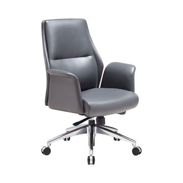 Picture of Neo Front Computer Desk Leather Chair, Grey