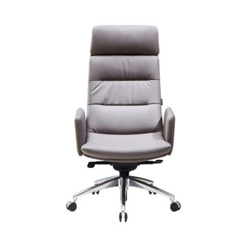 Picture of Neo Front Office Desk Leather Chair, Grey