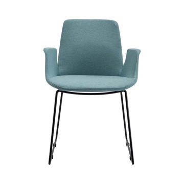 Picture of Neo Front Fabric Dining Chair, Blue