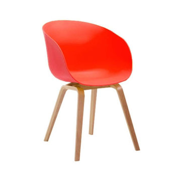 Picture of Neo Front Polypropylene Dining Chair, Orange