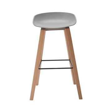 Picture of Neo Front Polypropylene Bar Chair, Grey