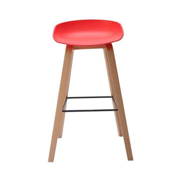 Picture of Neo Front Polypropylene Bar Chair, Red