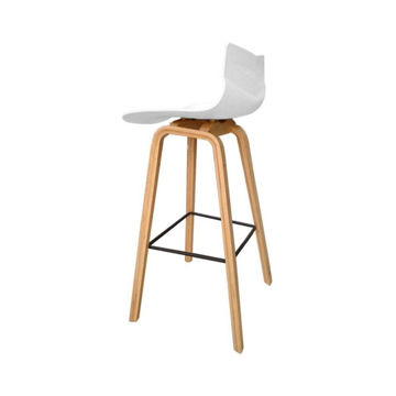 Picture of Neo Front Polypropylene Bar Chair, 40 cm, White