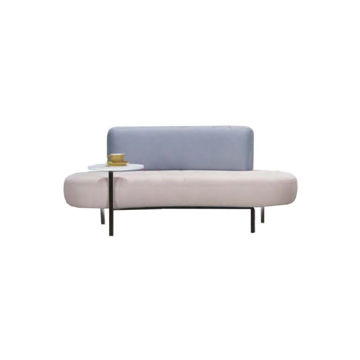 Picture of Neo Front Fabric Lounge Sofa, Blue & Beige