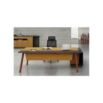 Picture of Neo Front Executive Work Table, 1.8 m, Brown & Grey