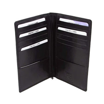 Picture of Leather Passport Holder Black