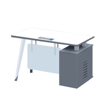 Picture of Neo Front MDF Office Table, 1.2 m, White & Grey