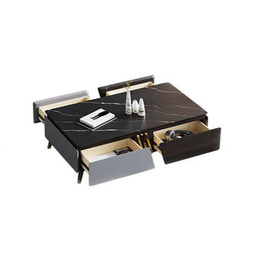 Picture of Neo Front Coffee Table with 4 Drawers, Multi Colour