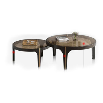 Picture of Neo Front Round Coffee Table Set, Brown
